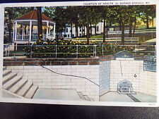 El Dorado Springs MO Fountain Of Health Postcard 1916