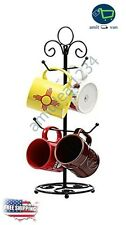 Decorative Coffee Tea Mug Tree Cup Holder Rack Hooks Stand Kitchen Organizer