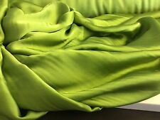 "NEW 100% Silk Satin Green Fabric 61"" 159cm Dress Scarf Cloth Material Garment"