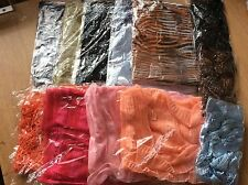 JOB LOT OF12 LADIES MIXED COLOUR SUMMER POLYESTER SCARVES - NEW - 080217.01
