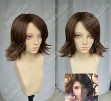 Final Fantasy X Yuna Short Brown FF10-2 anime Costume Cosplay Wig +Cap +Track