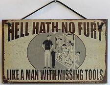 Garage Sign Man Cave Clean Organizer Tool s Vintage Square Peg Board Saw Level