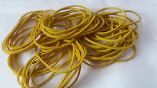 Rubber Bands,Coloured Qty 50,YELLOW, 1mm Thickness,Strong,1mm Wide,Stretch,Thin
