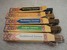 Set of Five Tibetan Incense-Sandalwood,Mandala,Juniper,Kalachakra,Morning Prayer
