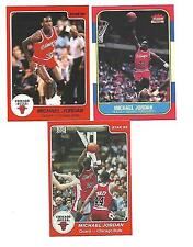 3 CT 1986 FLEER MICHAEL JORDAN ROOKIE RC CARD REPRINT #57 STAR 101 AND 117 LOT