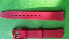 WATCH BAND BRACELET MONTRE*****PVC / rouge pour SWATCH** 14mm*  REF.BG 28