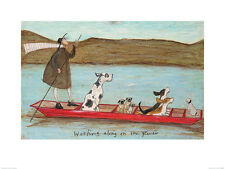 Sam Toft (Woofing along on the River) PPR40948 ART PRINT 40946  60 x 80cm