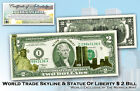 WORLD TRADE CENTER 9/11 Statue of Liberty * LAZER GOLD COLORIZED *USA LEGAL NOTE