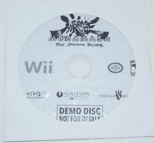 Nintendo Wii - Muramasa: The Demon Blade NFR Not For Resale Demo Disc NEW