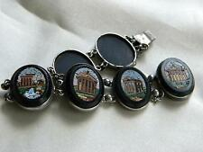 EXQUISITE antique Victorian MICROMOSAIC bracelet in silver ~