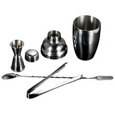 Stainless Steel Cocktail Shaker Gift Set + Mixer Making Bar Accessories LS R6FH
