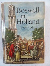 BOSWELL IN HOLLAND 1763-1764 1st Edition McGraw-Hill Book Company 1952