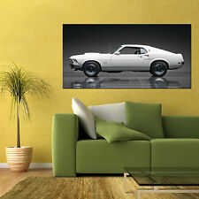 1969 FORD MUSTANG BOSS 429 FASTBACK CLASSIC MUSCLE CAR LARGE POSTER 24x48in