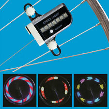 14 LED 30 Patterns RGB Bicycle Wheel Spoke Light Double Side Colorful Light DE