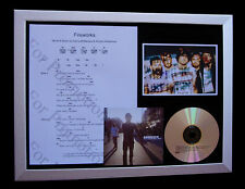 EMBRACE Fireworks GALLERY QUALITY CD LTD MUSIC FRAMED DISPLAY+FAST GLOBAL SHIP