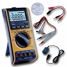Digital Multimeter Voltmeter Thermometer Ohm USB PC Computer Upload Data Logger