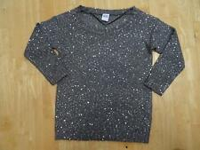 VERO MODA ladies grey sequin shine boat neck sweater jumper SMALL UK 8