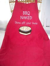 New Ioetad BBQ Naked Apron Red Show Off Your Buns