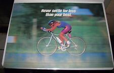 """Argus bicycle rider Motivational Poster """" Never settle for less than your best"""""""