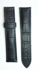 22mm, 22/18 Black Color Band Strap Alligator-Style replacement for SeaMaster