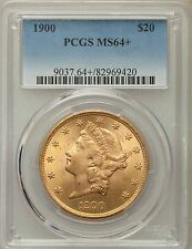 1900 US Gold $20 Liberty Head Double Eagle - PCGS MS64+