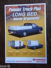 Daewoo FSO Polonez Truck Plus Long Bed, Prospekt / Brochure / Depliant, PL