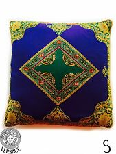 Authentic Gianni Versace Atelier Vintage Floral Purple Pattern Pillow