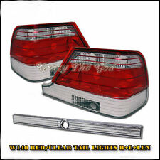 W140 1995-1999 95-99 S-Class 4Dr Sedan REAR Tail LIGHT R/Clear for Mercedes Benz