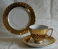 Westminster Australia 418 Gold Lustre Plate Cup & Saucer Trio