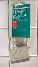 3' SCSI Cable: DB25 Male to Centronics, BRAND NEW, For Mac, Amiga & Others