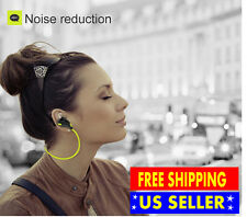Red QY7 Bluetooth 4.1 Stereo Earphone Wireless Neckband Sport Earbud + Eva Bag