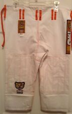 OK! Kimonos Kids Premium Tiger Jiu Jitsu White Pants M-1, M-2, Or M-3