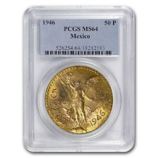 1946 Mexico Gold 50 Pesos MS-64 PCGS - SKU #70277