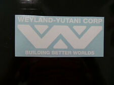 Weyland Yutani white sticker decal alien Lv-426 Hive window wall laptop