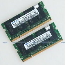 Samsung 8GB 2x4GB PC2-6400 DDR2 800Mhz 200pin Laptop Memory SODIMM Notebook RAM