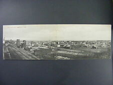 Granville North Dakota Town View Railroad Depot Panoramic Double Postcard 1909
