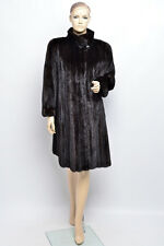 SAGA FEMALES MINK FUR COAT - BALCK BROWN DARK NO BLACKGLAMA NERZ HOPKA VISON