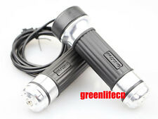 Silver Twist Gas Throttle Handlebar Grips Electric Bike Scooter Moped E-bike KIT