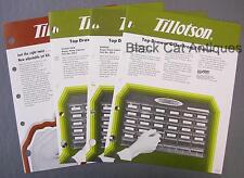 Lot of 4 Tillotson Dealer Sell Sheets Jet Kit & Repair Parts Cabinets DS-1-2-3