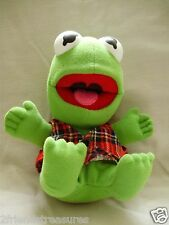 Kermit The Frog Muppets Plush McDonalds Toy Christmas 1987 9 Inches Baby Kermit