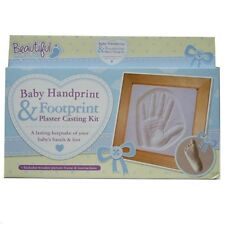 Baby First Hand Foot Print Plaster Casting Kit Mould Frame Keepsake Gift New