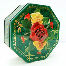 Vintage St Michael M&S Biscuits Tin Floral Roses