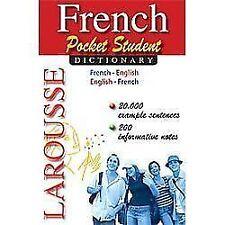 Larousse Pocket Student Dictionary French-English/English-French by Larousse...