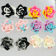 Combo Of 6 Beautiful Flower Design Latest New Quality Earrings/ Tops