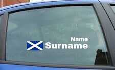 x2 Rally Race Tag Name Surname Car Window Stickers Decals Scotland Flag ref:9