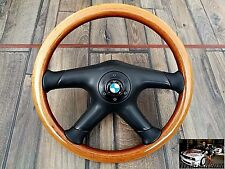 BMW MOMO Wood Steering Wheel Vintage 360MM E28 E30 E32 E34 OEM