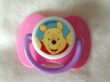 REBORN DOLLS PINK WINNIE THE POOH MAGNETIC DUMMY / PACIFIER WITH MAGNET