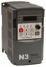 TECO DRIVE N3-205-CU VFD AC FREQUENCY DRIVE 5HP/17.5A 3 PHASE 230V IN/ OUT