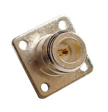 High Quality Silver Teflon Type UG58 Type N Female Chassis Mount Connectors