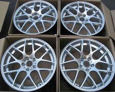 """19"""" Eurotek Wheels For BMW E46 M3 19x8.5"""" / 19x9.5"""" 5x120 Silver Rims Set 4"""